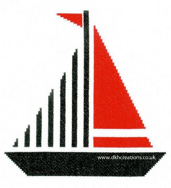 Sailboat Cross Stitch Kit